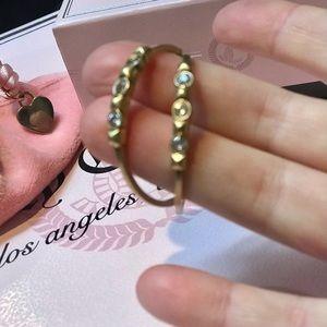 Juicy Couture vintage earrings jewel hoops